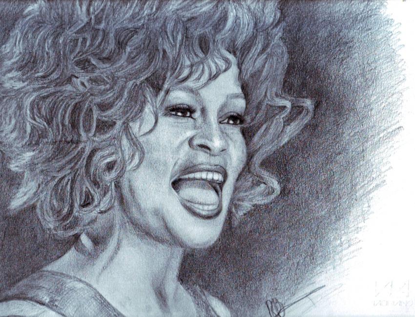 Whitney Houston by dorothy